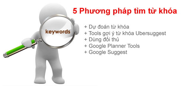 Có 5 cách tìm kiếm từ khóa thường dùng