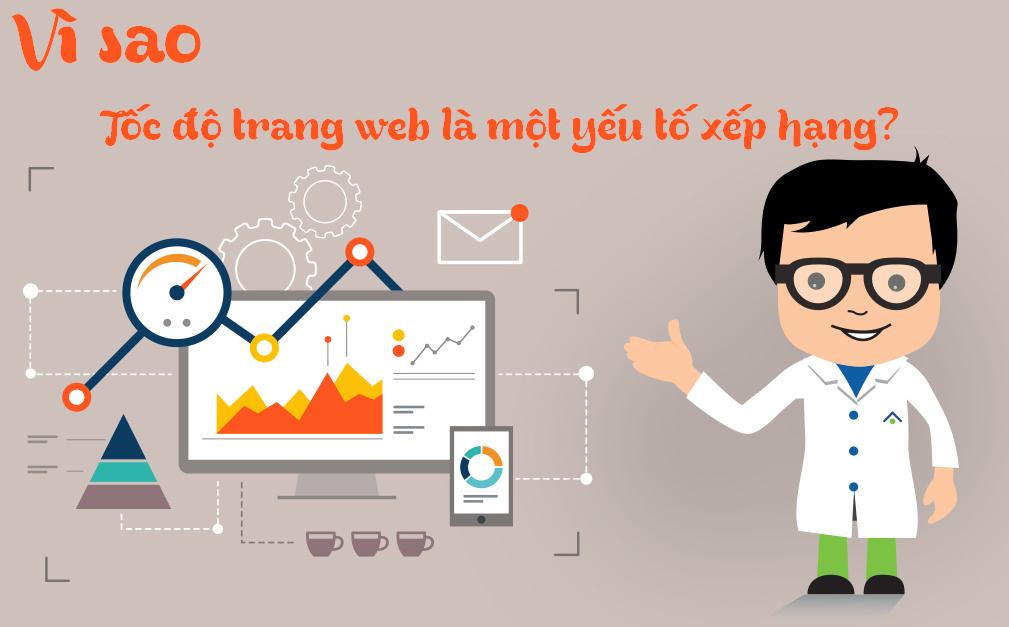 Tốc độ tải trang là một yêu tố xếp hạng trang web